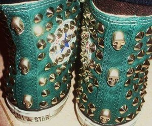 converse, shoes, and skull image