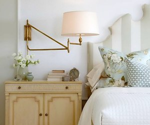 decor, lamp, and bedstand image
