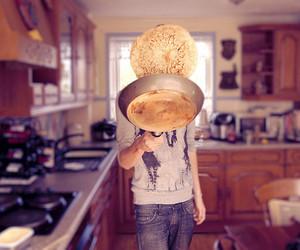 pancakes, kitchen, and boy image