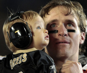 baby, drew, and new orleans saints image