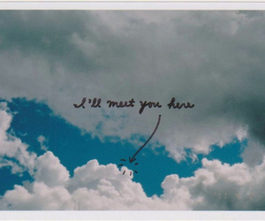 sky, clouds, and quote image