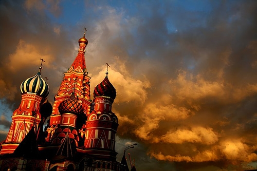 photography, clouds, and moscow image