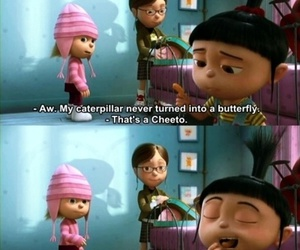 despicable me, cheeto, and agnes image
