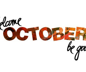 october and welcome image