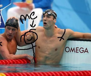 :D, Michael Phelps, and abs image