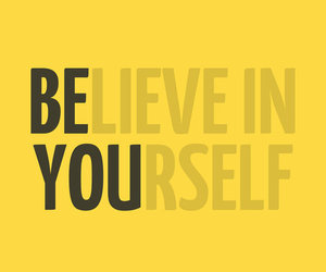 quote, believe, and yourself image
