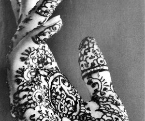 hand, henna, and tattoo image