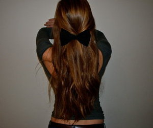 bow, girl, and long image