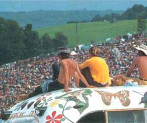 hippies and woodstock image