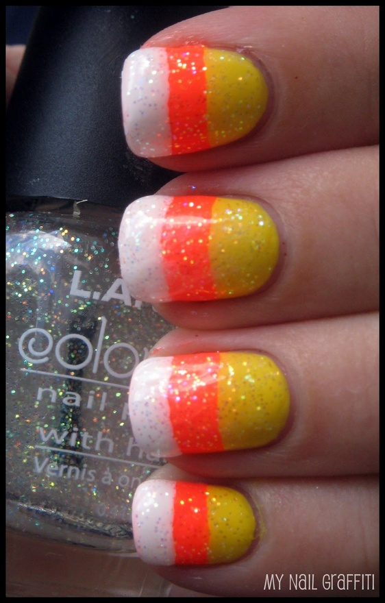- Nail Designs / Candy Corn On We Heart It
