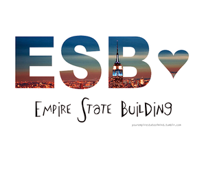 building, empire, and heart image