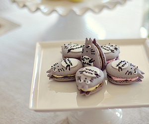 totoro, food, and macaroons image