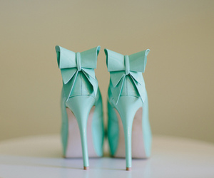 shoes, heels, and bow image