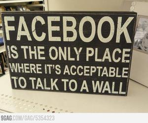 facebook, funny, and wall image
