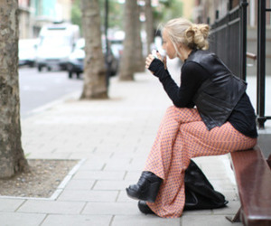 blonde, street, and style image