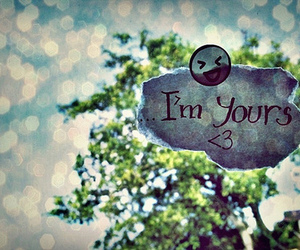i'm yours, heart, and smile image