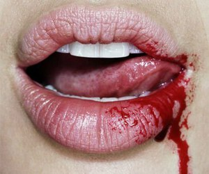 blood, boy, and lips image