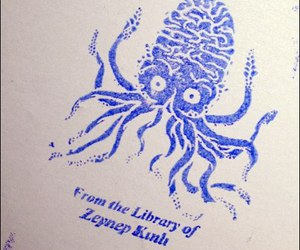 brain, stamp, and octopus image