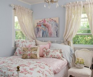 bedroom, girly, and pastel image