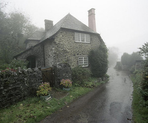 house, fog, and rain image