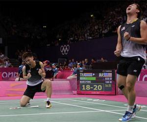 athletes, badminton, and olympics image