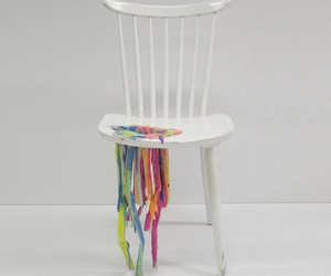 art, chair, and colorful image