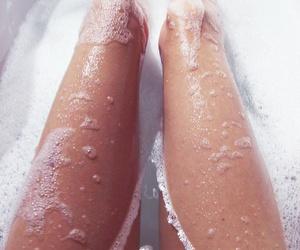 legs, girl, and bath image