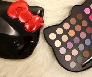 hello kitty, makeup, and eyeshadow image