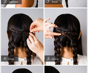 braids, brunette, and Easy image