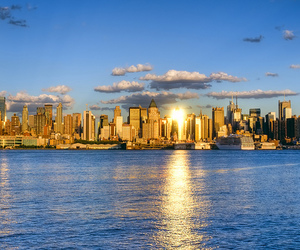 new york, city, and skyline image