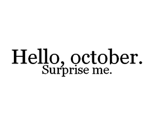 October Hello And Text Image