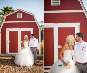 barn, blonde, and couple image