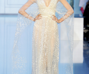 elie saab, dress, and model image