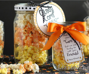 autumn, popcorn, and candy image