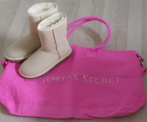 boots, clothes, and pink image