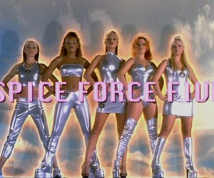 spice girls, 90s, and pink image