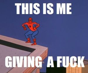 butt, funny, and spiderman image