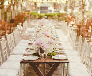 wedding, light, and table image