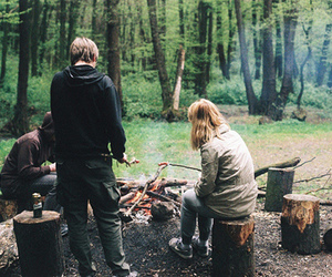 vintage, fire, and friends image