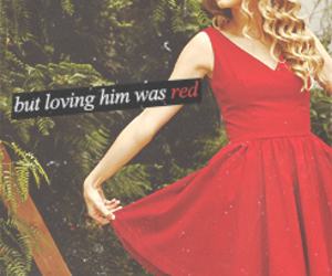 girl, red, and Taylor Swift image