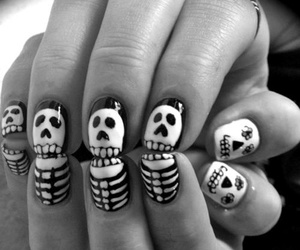 nails, skull, and skeleton image
