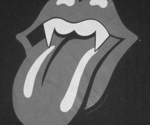 vampire, rolling stones, and lips image