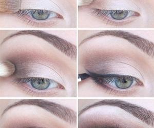 black, brown, and eye shadow image