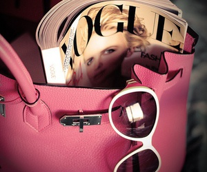 vogue, pink, and bag image