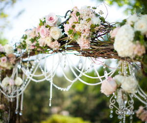 flowers, wedding, and rose image