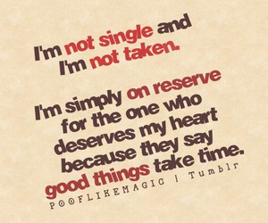 quote, single, and love image