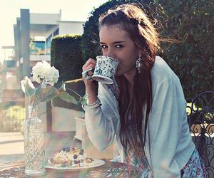 girl, fashion, and tea image