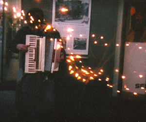 light, vintage, and music image