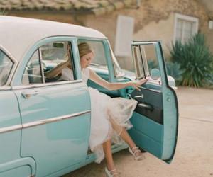 car, vintage, and wedding image