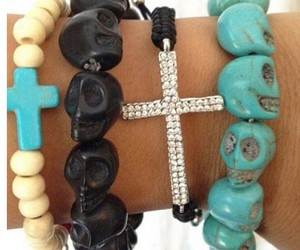 bracelet, armcandy, and skull image